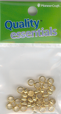Spacer Beads 6mm Gold 10g