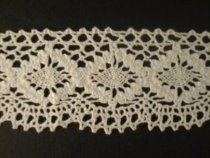 Lace Elastic 348352 WHITE price per mt