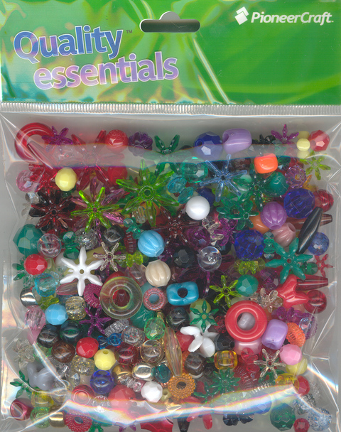 Assorted pack of Plastic Beads 100grams