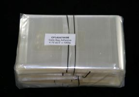 "Cello Bag Adhesive 12x16.5cms (4.75"" x 6.5"") 500p"