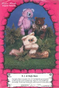 BJ & Buffy Bears Pattern