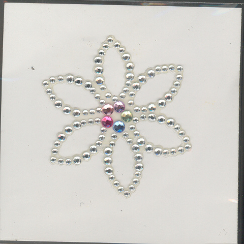 Self Adhesive Diamante Flower