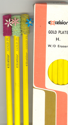 Pencils Excelsior Gold Plate H w/o eraser Box 12, price per box