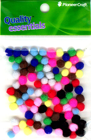 Pom Poms / Chenille Poms/ 7mm Mixed
