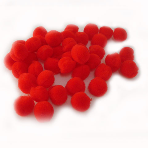 Pom Poms 20mm 100p; Red