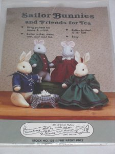 Sailor Bunnies and Friends for Tea