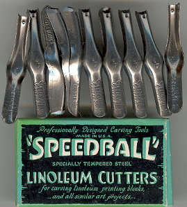 Speedball Lino Cutters (Box x12) No4.