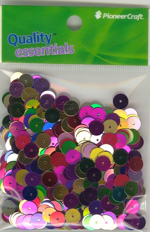 Flat 8mm Sequins Multi Pack 100grams
