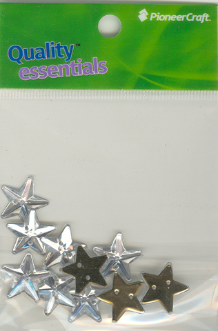 Crystal Sew On 15mm Stars 10p