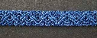 Gimp Braid Irish Blue, price per mtr