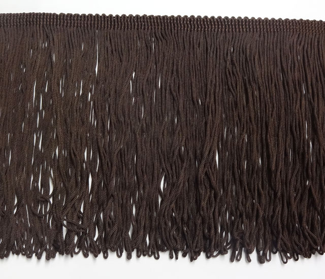 150mm Fringe Loop Dark Brown