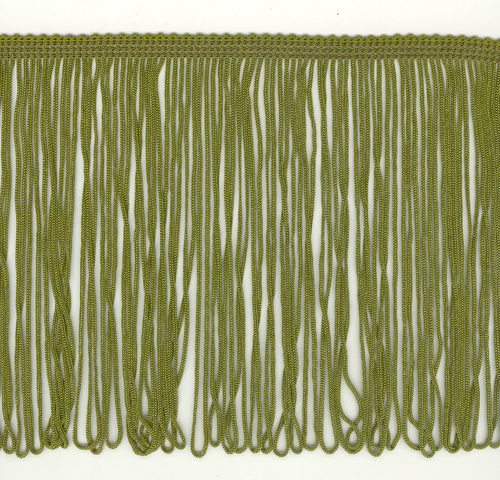 150mm Fringe Loop Moss Green