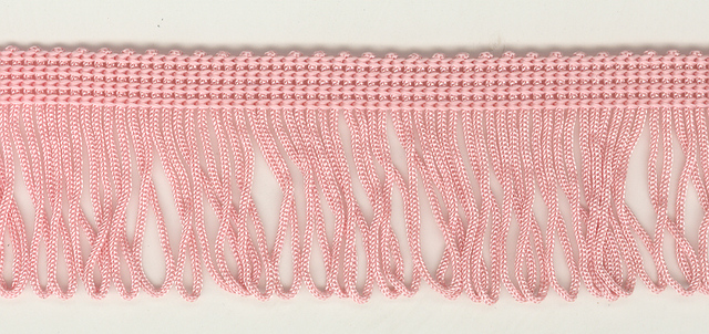 35mm Loop Fringe Pink