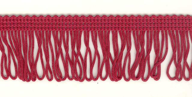 35mm Loop Fringe Claret