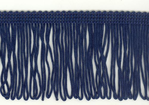 70mm Loop Fringe Navy Blue price per mt