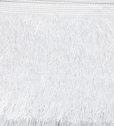 Cut Fringe 300mm White