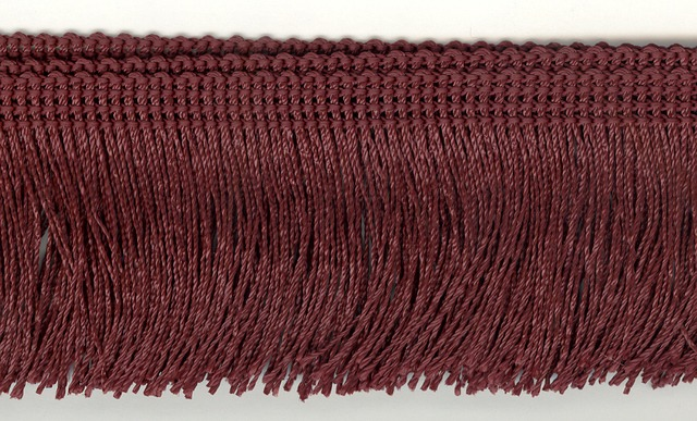 Rayon Cut Fringe 50mm Colour Wine
