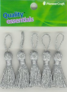 Tassels 35mm ST Silver Twist