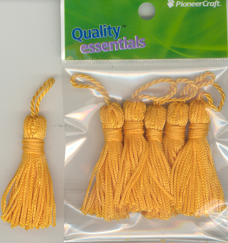 Tassels 50mm 46 Deep Gold - Click Image to Close
