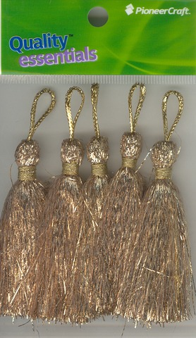 Tassels 70mm G Gold Lurex