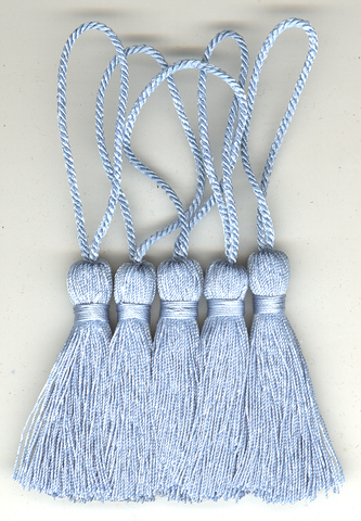 Key Tassel 70mm Lt Blue