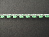 Glitter Braid per mtr; Emerald/Silver; price per mt