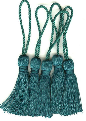 Key Tassel 70mm Emerald