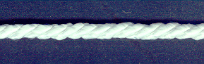 Rayon Cord 5mm White; price per mtr