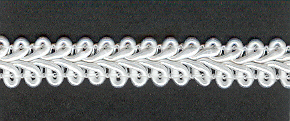 Gimp Braid per mtr; White, price per mtr