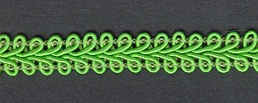 Gimp Braid per mtr; Leaf Green, price per mtr