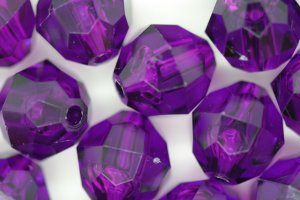 12mm Facet Transparent; Dark Amethyst 250g (approx 330p)