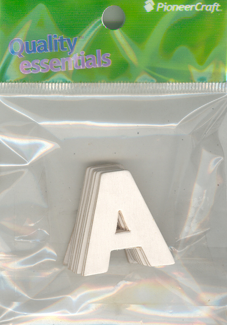Set Small Alphabet (A)10 piece Size 33x30mm