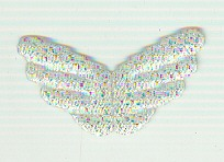 Angel Wings 10 B, Silver 1p