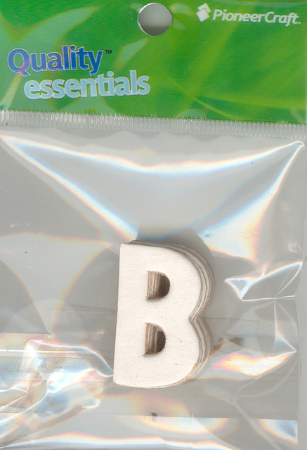 Set Small Alphabet (B)10 piece Size 33x22mm