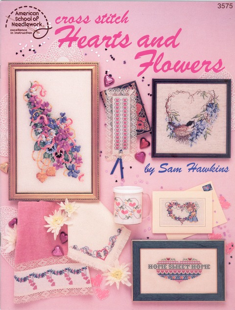 Cross Stitch Hearts and Flowers