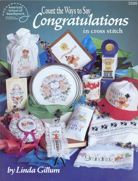Count the Ways to Say Congratulations in cross stitch