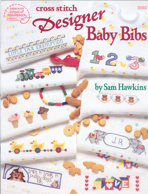 Cross Stitch Designer Baby Bibs