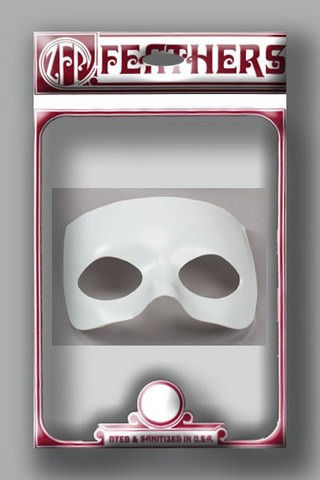 Mask Form ½ face plastic moulded