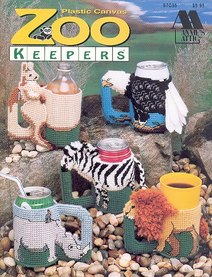 Plastic Canvas Zoo Keepers