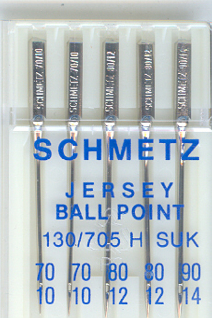 Schmetz Machine Jersey Ballpoint Assorted (Pkt 5)