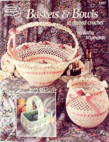 Baskets and Bowls in thread crochet