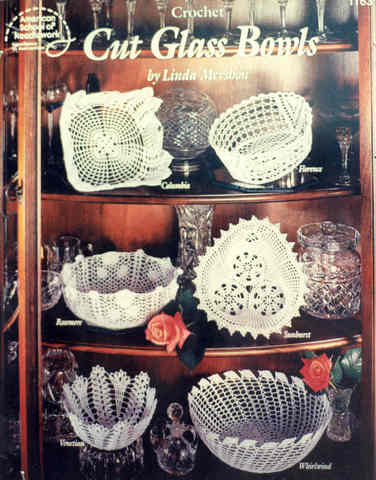 Crochet Cut Glass Bowls