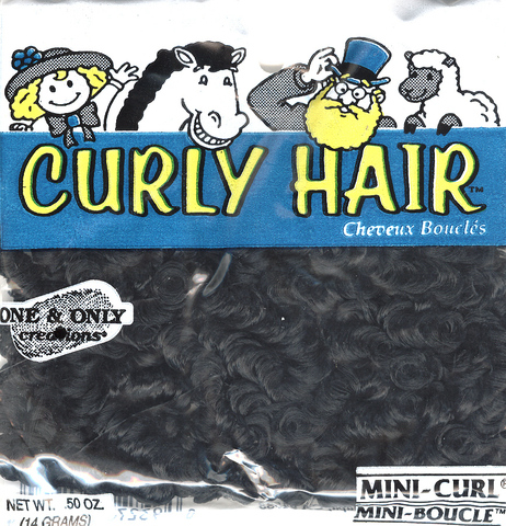 Mini Curl Hair; Midnight Black