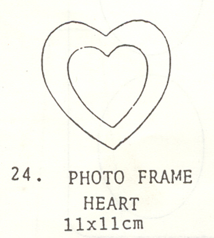 Small Heart Photo Frame Kit