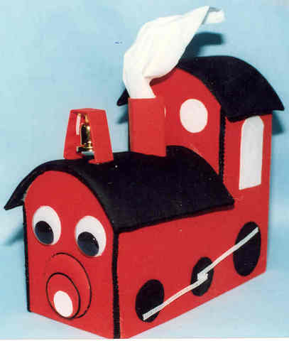 Train Tissue Box