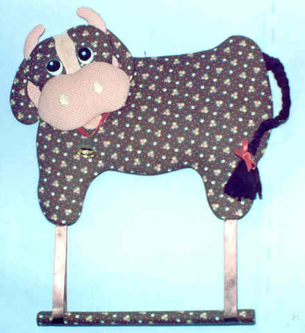 Cow Towel Holder