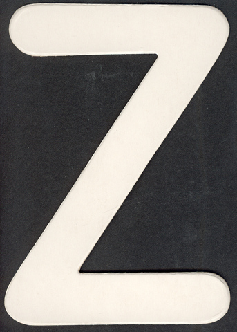 Lower Case Alphabet (z) 1 piece 6.5cm x 7.5cm