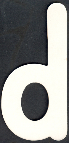 Lower Case Alphabet (d) 1 piece 6.5cm x 13.8cm