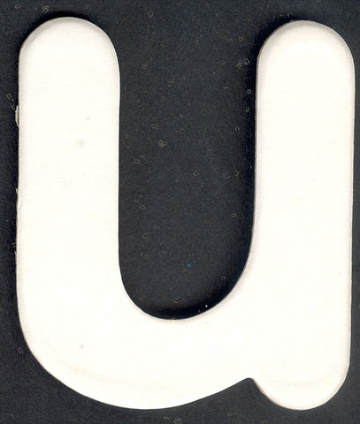 Lower Case Alphabet (u) 1 piece 6.5cm x 7.7cm