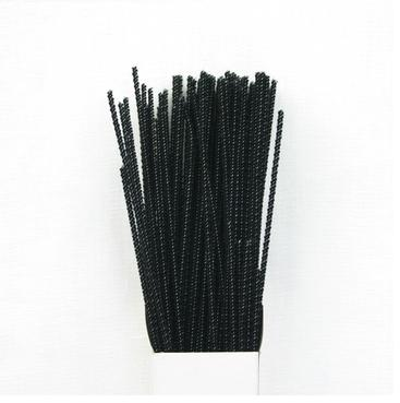 Chenille Sticks 3mm; Black - Click Image to Close